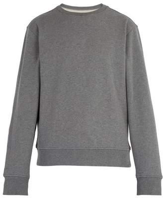 Maison Margiela Elbow Patch Cotton Jersey Sweatshirt - Mens - Grey