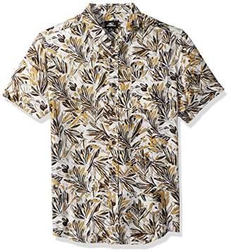 O'Neill Men's Modern Fit Short Sleeve Woven Party Shirt
