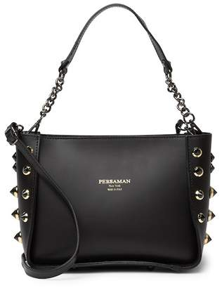 Persaman New York Carana Studded Leather Satchel