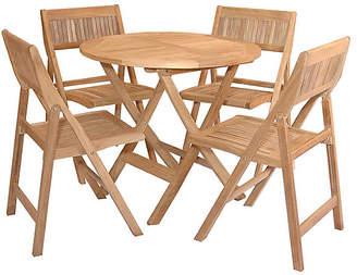 Windsor 5-Pc Round Dining Set - Natural - Anderson Teak