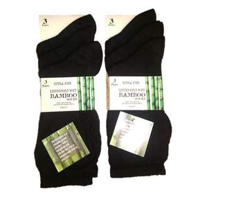 Bamboo A Women's 6 Pairs Extra Fine Socks