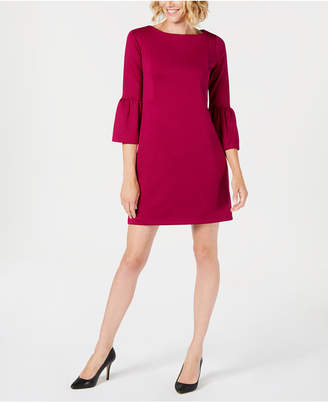 Charter Club Petite Bell-Sleeve Shift Dress