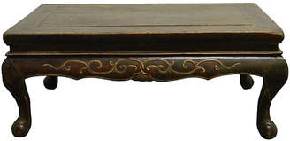 One Kings Lane Vintage Antique Indonesian Carved Table - FEA Home