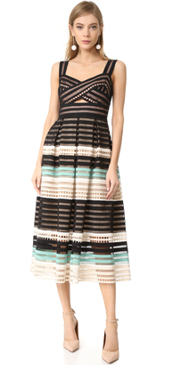 Lela Rose Fitted Bodice Tucked Dress $2,495 thestylecure.com