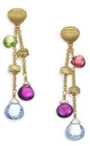 Marco Bicego Paradise 18K Yellow Gold& Semi-Precious Multi-Stone Double-Drop Earrings