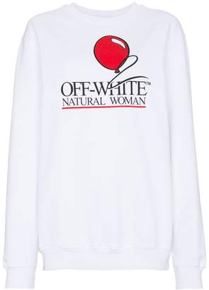 Off-White Natural Woman Slogan Sweatshirt