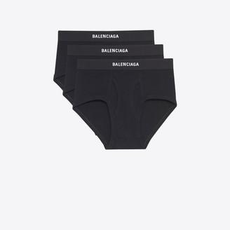 Balenciaga Trio of black briefs