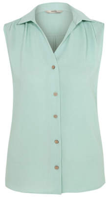 George Mint Sleeveless Woven Shirt