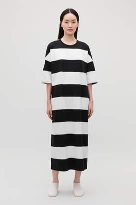 Cos LONG STRIPED T-SHIRT DRESS