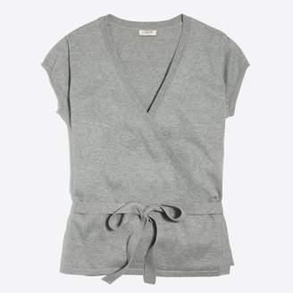 J.Crew Factory Short-sleeve wrap sweater