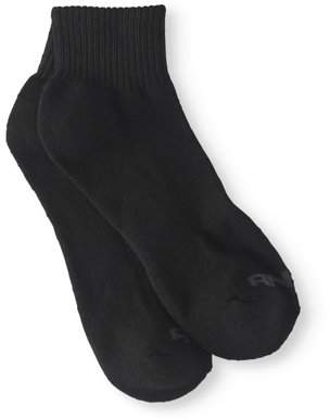 AND 1 And1 AND1 Quarter Cut Men's Socks, 12 Pack, 10-13, Black