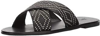Frye Women's Ally Deco Stud Criss Cross Slide Sandal
