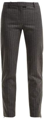 Altuzarra Henri Pinstripe Wool Blend Trousers - Womens - Grey Stripe