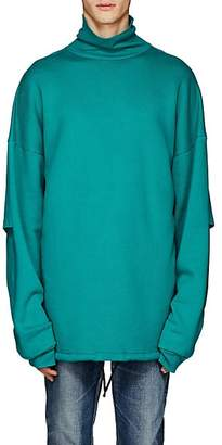Balenciaga Men's Layered Turtleneck Sweatshirt - Green