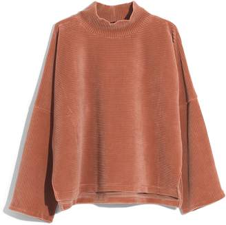 Madewell Texture & Thread Velour Corduroy Mock Neck Top