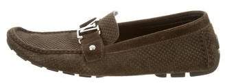 Louis Vuitton Initiales Suede Loafers