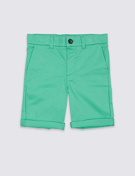 Cotton Chino Shorts with Stretch (3 Months – 7 Years)