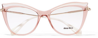 Cat-eye Acetate Optical Glasses - Pink