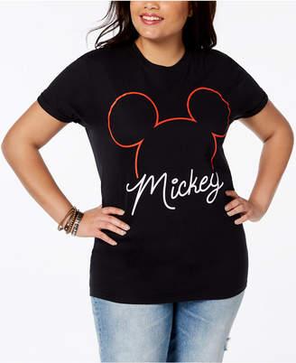 Disney Plus Size Cotton Mickey Mouse T-Shirt
