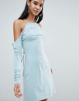 Weekday Limited Edition Criss Cross Back Asymmetric Dress