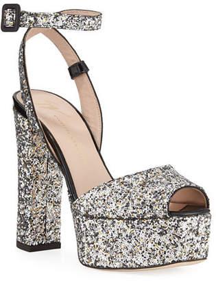 bc3669ee8fd0 Giuseppe Zanotti Glitter Platform 120mm Sandals