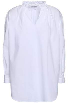 Sandro Pleated Cotton-poplin Shirt
