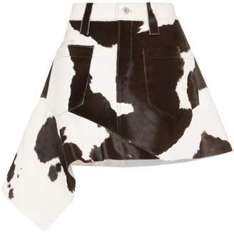 Marques Almeida Marques'Almeida cow print asymmetric skirt