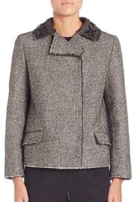 Roberto Cavalli Double Breasted Tweed Jacket