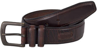 Columbia Brown Leather Men's Belt with Contrast Stitching