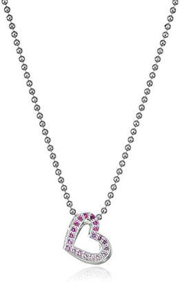 Alex Woo Little Elements Sterling Silver Heart with Swarovski Genuine Sapphires Pendant Necklaces