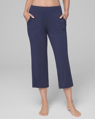 Cool Nights Crop Pajama Pants Navy