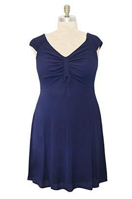 5a39ef378890 London Times Women's Plus Size Short Sleeve V Neck FIT & Flare Dress