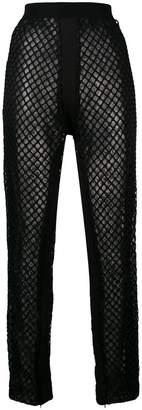 Di Liborio net embellished loose trousers