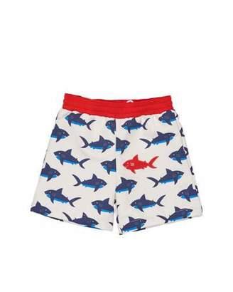 Florence Eiseman Shark-Print Swim Trunks, Blue/White, Size 6-24 Months $60 thestylecure.com