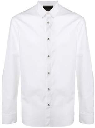 Philipp Plein skull button shirt