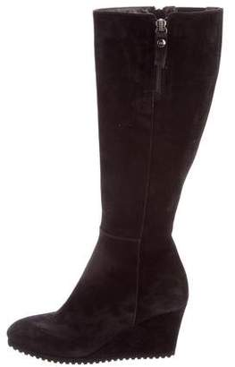 AGL Suede Wedge Boots
