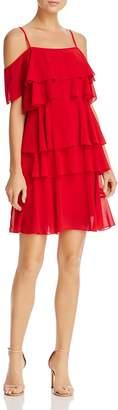Nanette Lepore nanette Tiered Cold-Shoulder Dress
