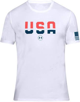 Under Armour Men's Charged Cotton Usa Metallic T-Shirt