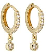 Jennifer Meyer Women's White Diamond Huggie Hoops - Gold