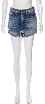 R 13 Denim Mini Shorts