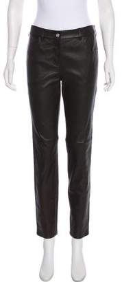 Givenchy High-Rise Leather Pants