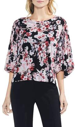 Vince Camuto Timeless Blooms Bubble Sleeve Blouse