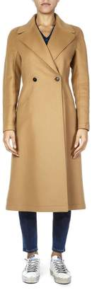 Dondup Camel Wool Double Breasted Coat