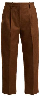Acne Studios Tapered Wool Blend Trousers - Womens - Brown