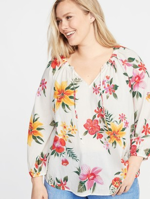 Old Navy Tie-Neck Plus-Size Blouse