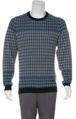 Louis Vuitton Plaid Wool Crew Neck Sweater