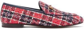 Gucci Jordaan check tweed loafers