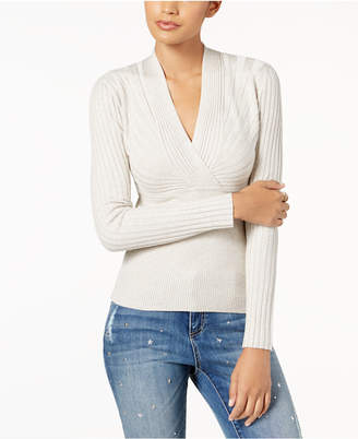 INC International Concepts I.N.C. Ribbed Surplice Sweater, Created for Macy's