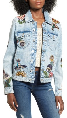 Women's Blanknyc Embroidered Denim Jacket $168 thestylecure.com