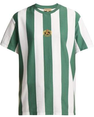 Burberry Logo Crest Cotton T Shirt - Womens - Green White